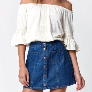 Pacsun Kendal + Kylie Denim Skirt